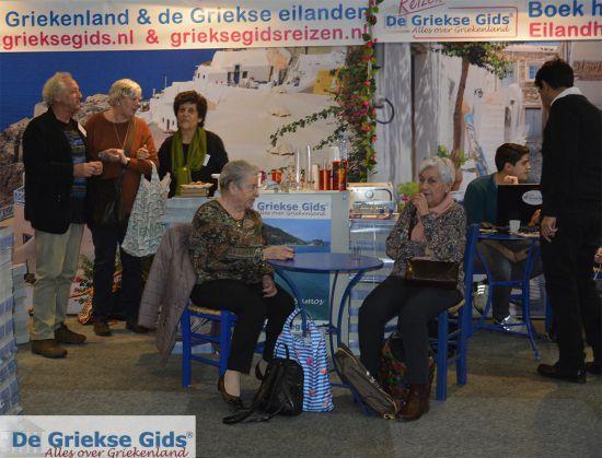 De griekse Gids op de vakantiebeurs